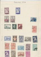 greece 1945  stamps on album page ref 10738