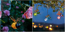 Solar Powered Hanging Bug LED Lights Novelty Bee Animal Lamps Firefly Effect