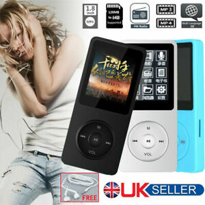 128GB Support MP3 Player MP4 Media FM Radio Recorder HIFI Sport Music Speaker UK