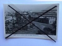 vintage old black white photo postcard of Railway Station Gardens Fremantle WA
