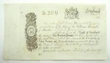 100 Pound Warrant / Bond Certificate of Alexander Humphrys c. 1840's