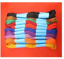 12 Assorted Embroidery Thread Cotton Skein Sewing Craft Stitch Colour Embroidary