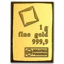 1g Valcambi Fine Gold Bar From Combibar