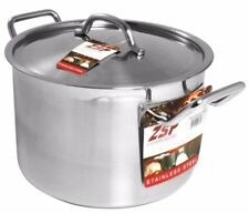 More details for zsp heavy duty stainless steel pan professional large saucepan & lid  28cm 12.3l