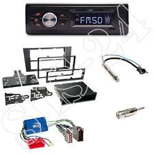 CALIBER rmd022 radio arancione + Audi a4 2-din pannello frontale nero + Adattatore Sistema Attivo
