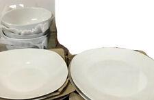 Denmark 12 Pc Set Commercial Grade Vitrified Porcelain White Square Dinnerware