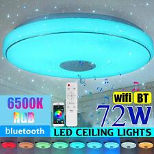 72W LED RGB Deckenlampe mit Bluetooth Lautsprecher App und Fernbedienung Dimmbar