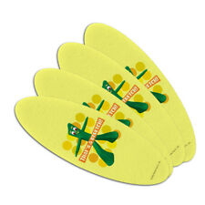 Yoga Gumby That's a Stretch Double-Sided Oval Nail File Emery Board Set 4 Pack