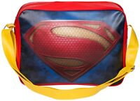 Boys Girls Superman Deluxe Shoulder Bag Retro Style Sports Bag