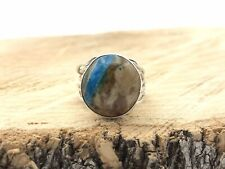 Native American Jewelry Turquoise Ring Handmade Sterling Silver Indian  .925