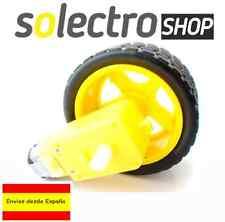 2x Motor DC con Reductora y 2x Rueda para Robot Smart Car  Robotica  Arduino