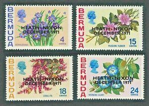 BERMUDA 1971 SG283-86 ANGLO-AMERICAN TALKS OVPRT. HEATH/NIXON  -  MNH