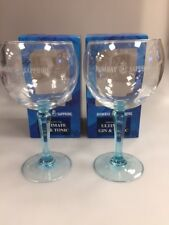 2 x Bombay Sapphire Balloon Glasses. Boxed. Bar Gin Glass. bombay glass