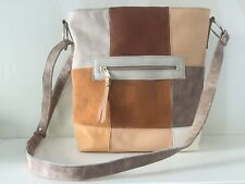 Patchwork Leather Shoulderbag VanStoel#224 BROWN BEIGE