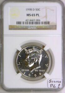 1998-D Kennedy Half Dollar NGC MS-65 PL; Scarce PL!