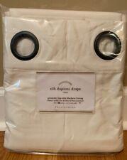 "NEW Pottery Barn Silk Dupioni GROMMET BLACKOUT Drape 50"" x 84"" IVORY"