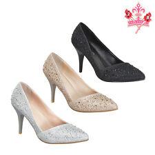 New Women High Heel Sexy Fashion Sparkle Rhinestone Platform Stiletto Pump Shoes