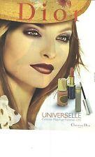 PUBLICITE 2000  DIOR  cosmétiques beauté