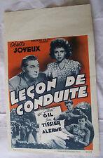 Original Retro Film Poster Belgium LECON DE CONDUITE Odette Joyeux 1946