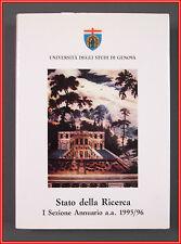 Universita Genova STATO DELLA RICERCA 1996 Punto Editoriale Liguria