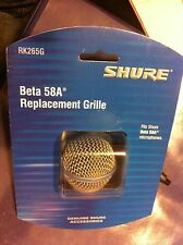 Ships Free! Shure Beta58 Replacement Grille RK265G Authentic Microphone Grill