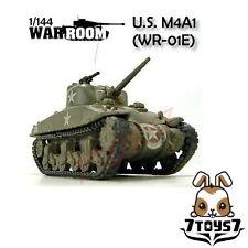 War Room 1/144 M4A1 US Sherman Tank #E Prepainted Pre-assembled WWII Bid WR001E
