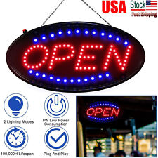 Bright Led Open Sign Neon Light Animated Motion Flash Business Ad Board