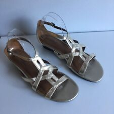 Women's Champagne Metallic Gladiator Strappy Sandals Size 10 M NATURALIZER NWT