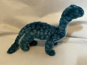 Paperchase Soft Toy Plush Comforter Gift Dinosaur Diplodocus Green Blue 10 inch