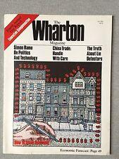 The Wharton Magazine Fall 1980 Issue