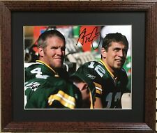 Nice Framed Brett Farve & Aaron Rodgers Photo ( Green Bay Packers- NFL )