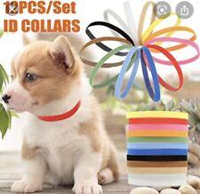 12 Whelp ID Collars Newborn Kitten Puppy Whelping Collar Bands for Breeder