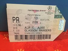Football Ticket - AFC Ajax - Glasgow Rangers - Champions League 1996