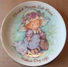 """Avon """"Cherished Moments Last Forever� Mothers Day Plate 1981 Made In Japan"""