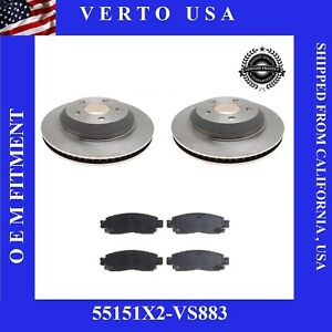 Rear Brake Rotors Pads For Buick  Enclave, Chevrolet Traverse, GMC Acadia