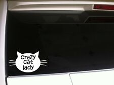"Crazy Cat Lady Car Decal Vinyl Sticker 6"" F83 Funny Love Kittens Pets Animals"