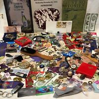 HUGE Junk Drawer Estate Lot: Antiques Collectibles Decor DIY Misc Trinkets #2