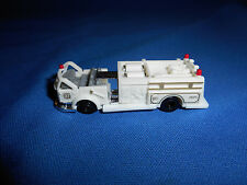 Mini OPEN CAB White AMERICAN FIRE TRUCK Plastic Toy European Kinder Surprise