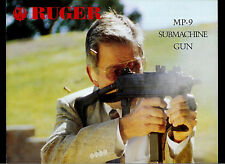 1998 Ruger MP-9 Submachine Gun Automatic Dealer Brochure With Specifications