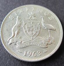 1963 Plain Australia 6d Sixpence ** ERROR DIE CRACK ** #BJ05