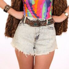 90s vintage style blue acid wash hotpants shorts FOREVER 21 29""