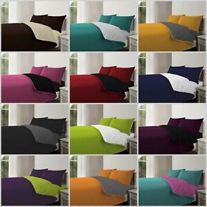 3Pc Reversible Duvet Cover with Pillowcase Bedding Set All Size