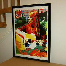 Joni Mitchell, Acoustic Guitar, Singer Songwriter, Folk Rock 18x24 POSTER w/COA2
