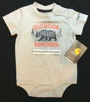 NEW Carhartt infant baby BOYS OUTDOOR EXPLORER one piece hunting BEAR size 12M