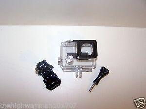 Genuine GoPro Hero 3,3+plus fits4 slim waterproof housing case j-hook