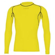 Mitre Neutron Base Layer Yellow Compression LS Top Size XS Mens Gym/sportswear