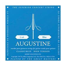 Augustine Clásica Azul Alto Tensión Cuerdas Para Guitarra Clásica