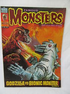 Vintage FAMOUS MONSTERS Magazine # 135 Jul 1977 Godzilla Vs Bionic Monster!