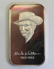 WWM-20 Hank Williams Nashville Music MINTAGE 200 999 SILVER ART BAR Rare