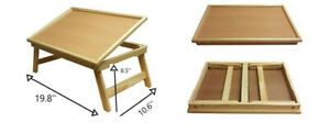 Adjustable Wooden Large Multipurpose Laptop Bed Breakfast Folding Table Tray